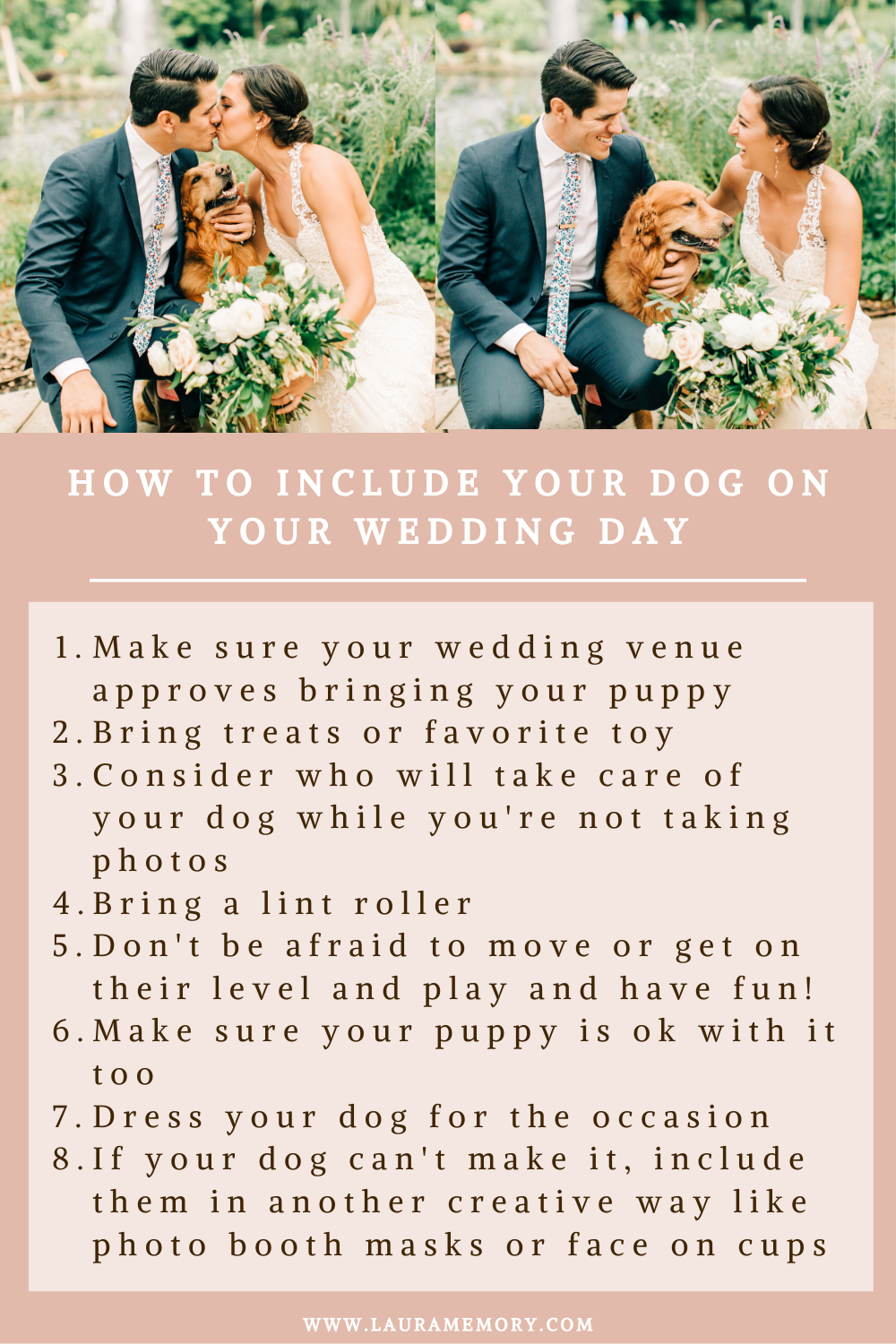 How to include my dog on my wedding day, wedding day photography with my dog