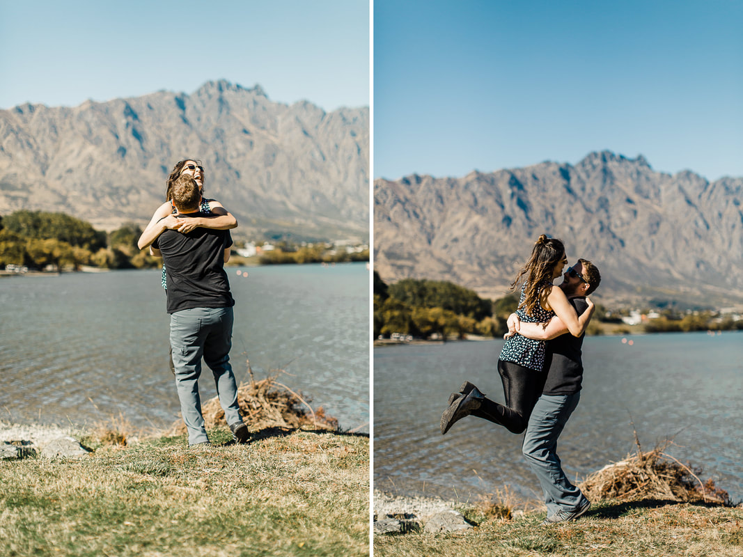 Miami Wedding Photographer in Queenstown, New Zealand for a lake engagement