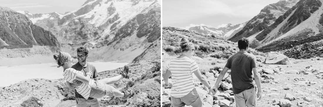 Mount Cook New Zealand Adventure Engagement - Miami Photographer