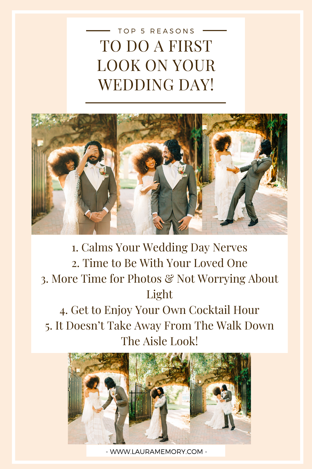 First Look on Wedding Day - Why you should do a first look on your wedding day