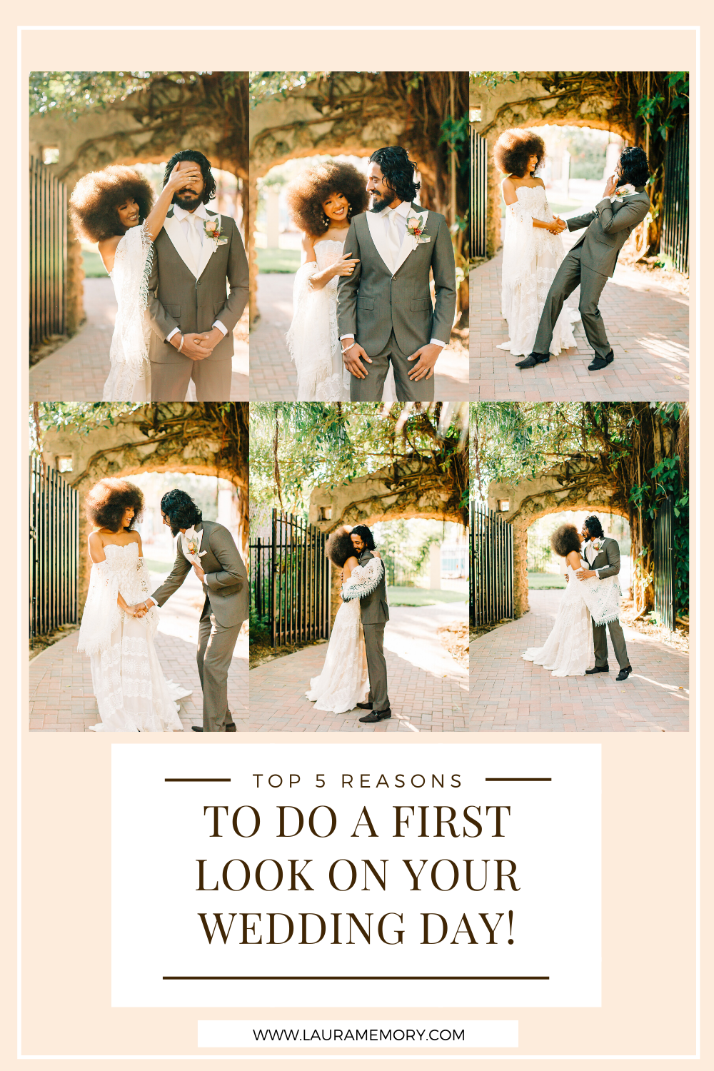 First Look on Wedding Day - Top reasons to do a first look on wedding day - Why you should do a first look!