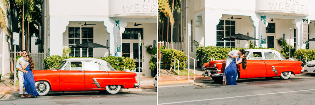 Raleigh elopement photographer candid engagement photos South Beach Miami