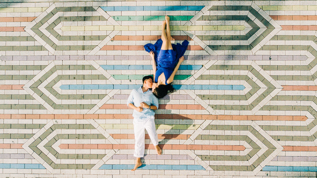 Raleigh elopement photographer candid engagement photos South Beach Miami Drone DJI Overhead