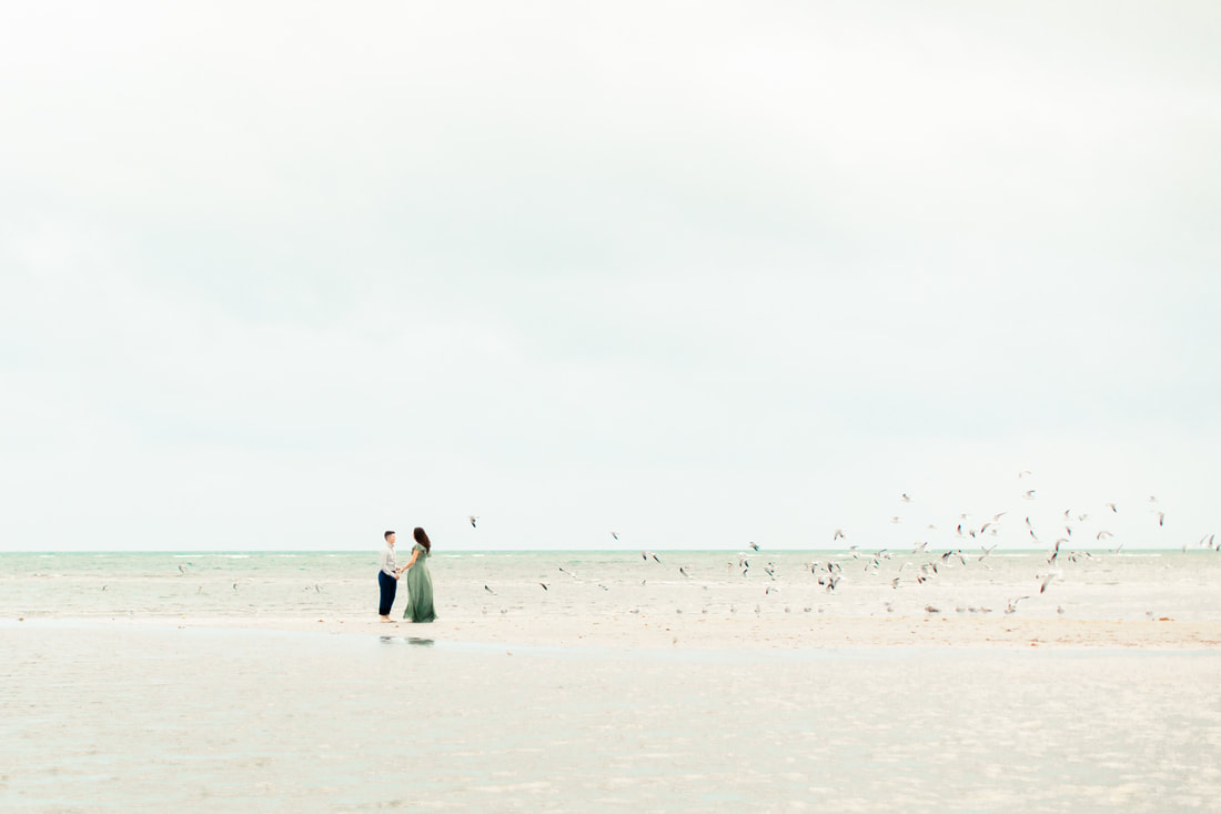 Raleigh wedding photographer Miami Beach engagement Crandon Beach photos Durham Elopement