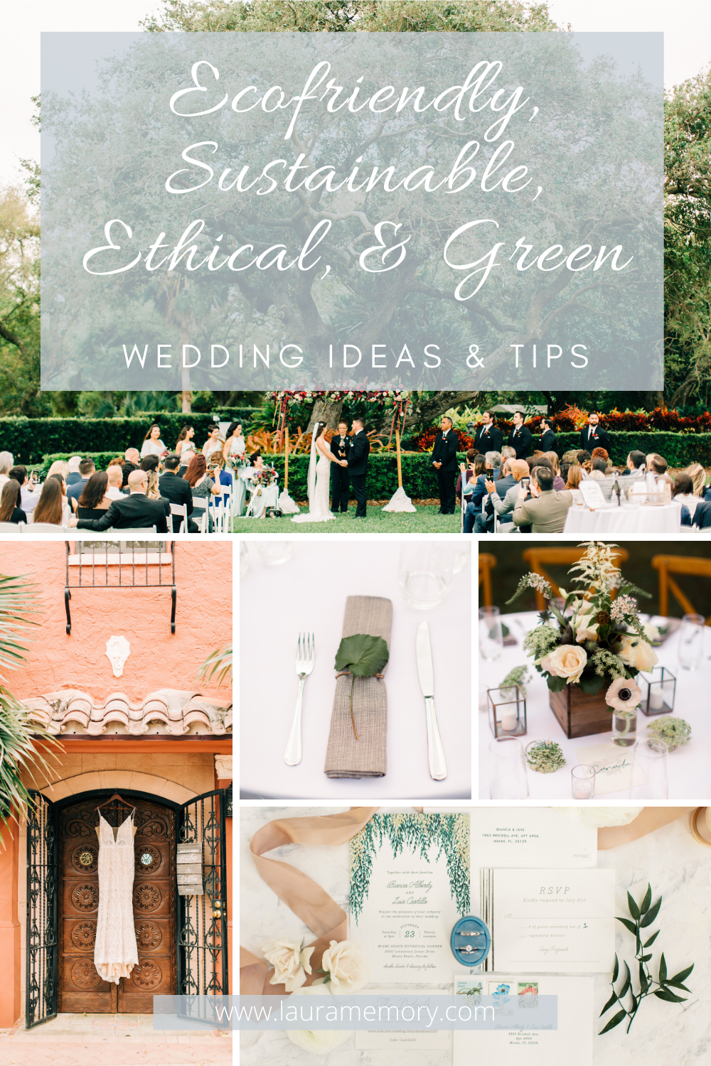 10 Tips To Make Your Wedding Day Eco Friendly | How to Have a Sustainable Wedding | Green Wedding Tips