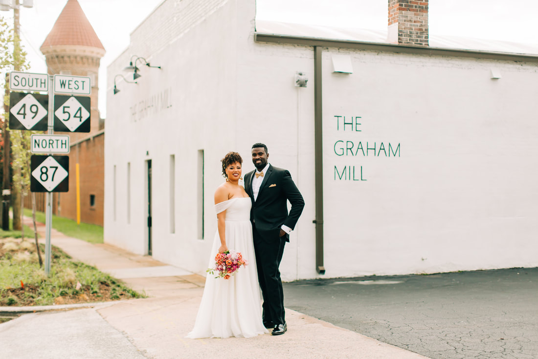 Wedding at the The Graham Mill in Graham, NC