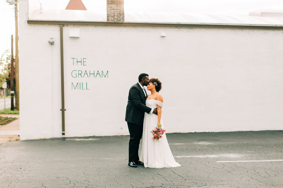 Wedding at the Graham Mill outside of Durham, NC